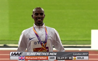 Mo Farah won the gold at 10000m